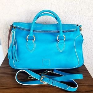 Dooney Florentine Edge Savannah Satchel Sky Blue